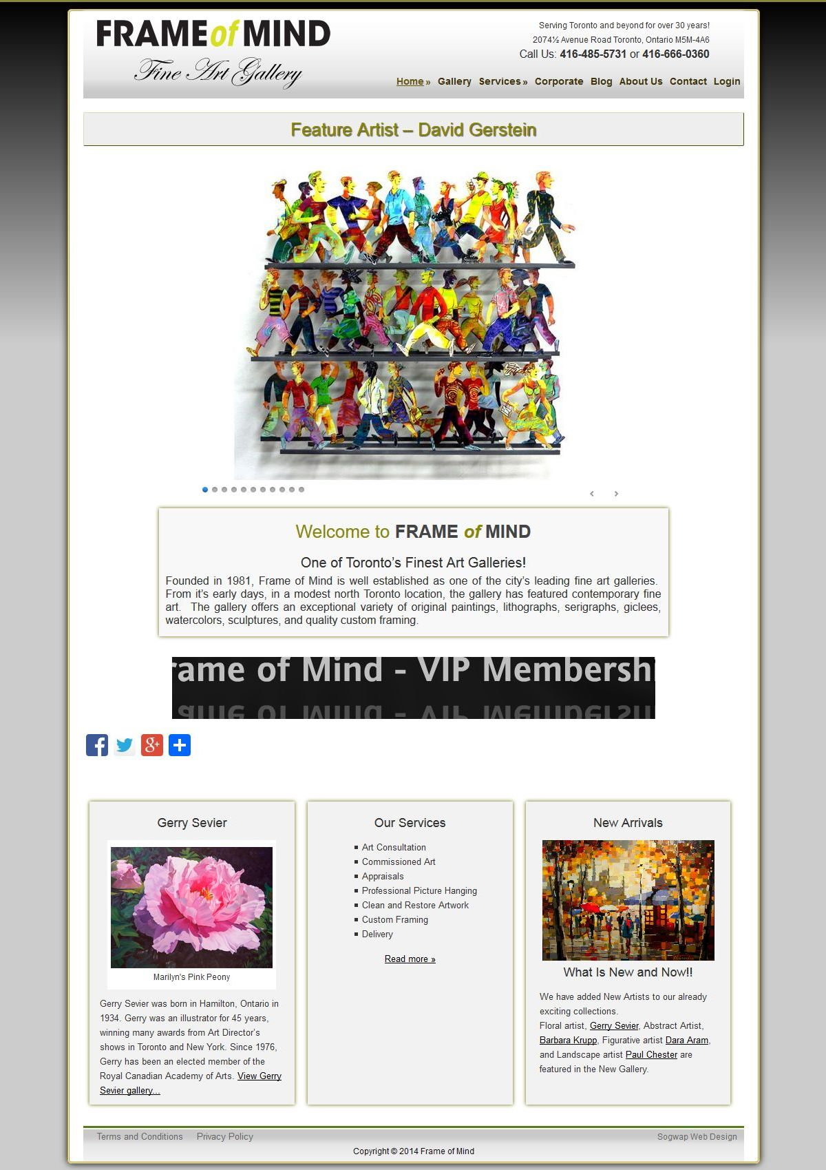 'Welcome to FRAME of MIND One of Toronto's Finest Art Galleries! I Toronto's Premier Art Gallery' - frameofmind_ca