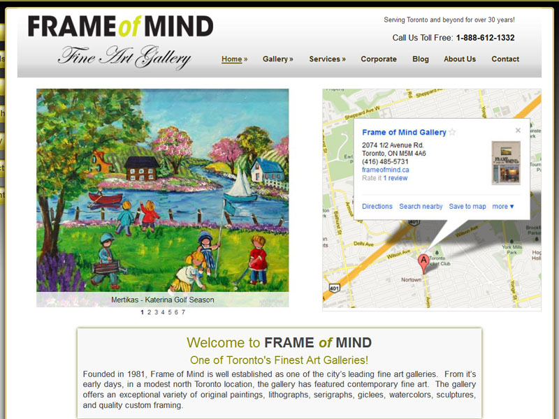 FrameOfMind.ca is one of Toronto's finest art galleries.